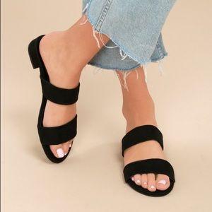 Lulus devin Black slide sandals